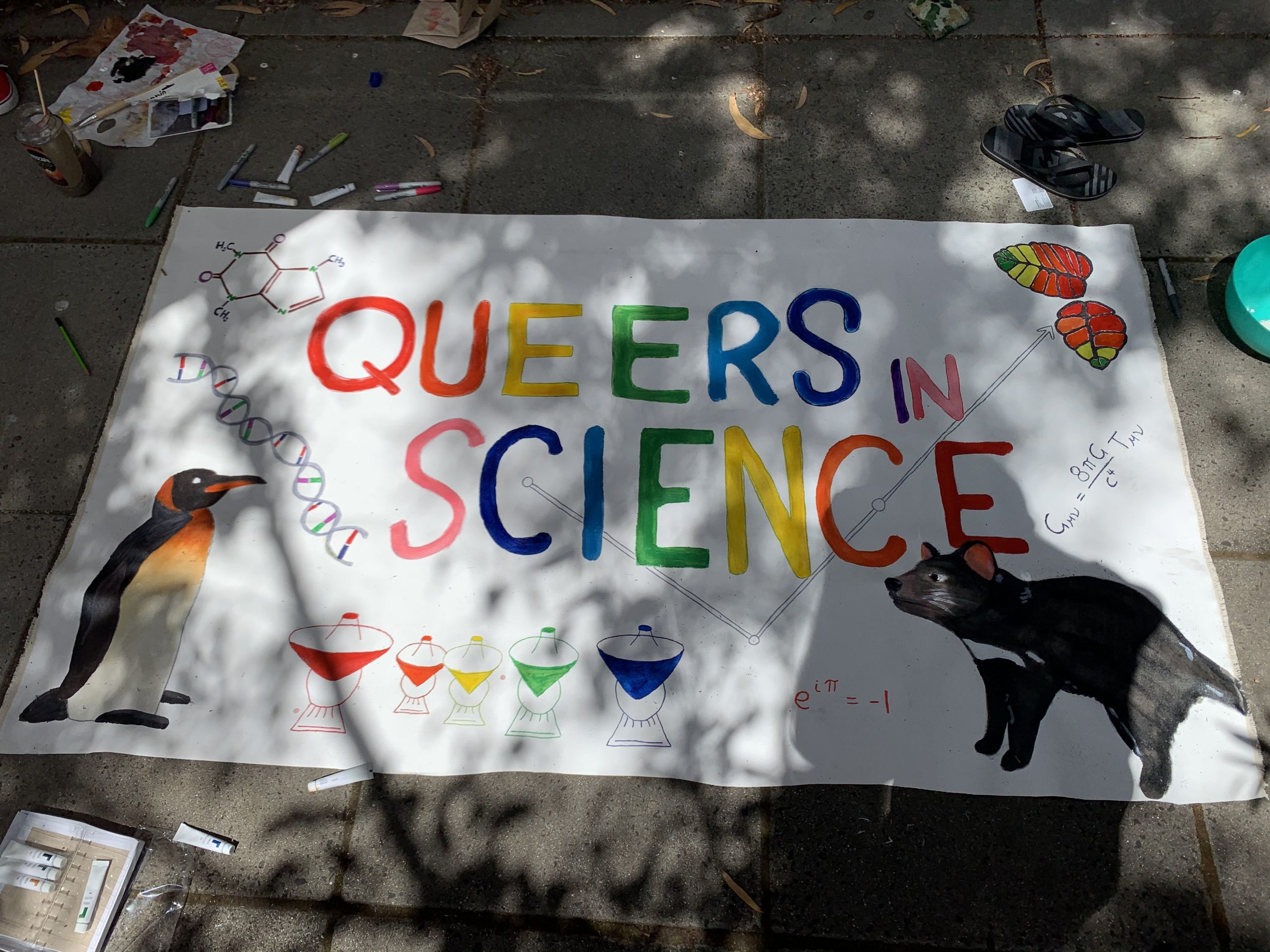 QueersInScience banner.
