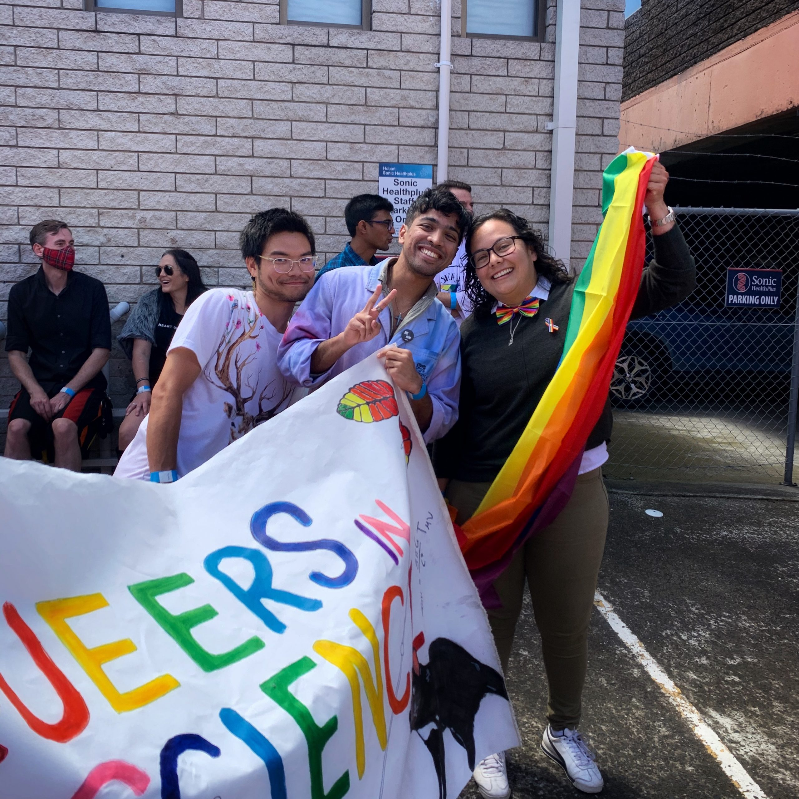 Ink, Zach and Petra at the 2021 Taspride Parade.